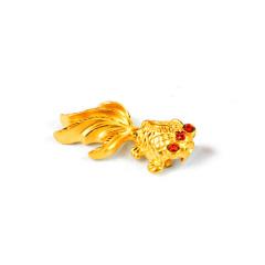 寶麒麟銀樓 3D硬金 金魚吊墜 2.83g