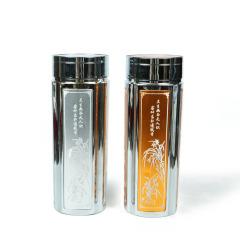 寶麒麟銀樓 梅蘭竹菊純銀水杯 銀重60g