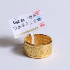 金一金店 黄金珠宝 黄金戒指 18.26g