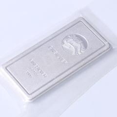 腾飞龙8国际娱乐游戏行 黄金龙8国际娱乐游戏 纯银投资银条 200g 长9cm 宽4cm
