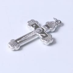腾飞珠宝行  S990纯银十字架