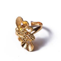 富华珠宝首饰 黄金新款女戒    黄金珠宝戒指 7.38g