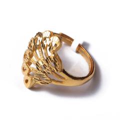 富华珠宝首饰 黄金小款凤尾扇形    黄金珠宝戒指 5.35g