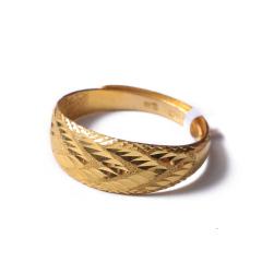 富华珠宝首饰 黄金菱形戒    黄金珠宝戒指 4.7g