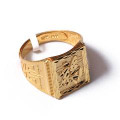 富华珠宝首饰 黄金 老版福戒   黄金珠宝戒指 13.45g