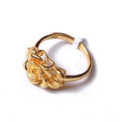 富华珠宝首饰 黄金 玫瑰花   黄金珠宝戒指 6.82g
