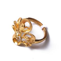 富华珠宝首饰 黄金孔雀开屏   黄金珠宝戒指 8.38g