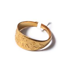 富华珠宝首饰 黄金吉祥如意  黄金珠宝戒指 5g