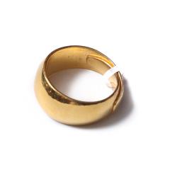 富华珠宝首饰 黄金男戒光戒  黄金珠宝戒指 23.34g