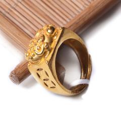 富华珠宝首饰 黄金貔貅戒  黄金珠宝戒指 15.85g
