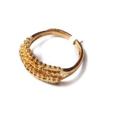 富华珠宝首饰 黄金仿钻戒  黄金珠宝戒指 5.34g