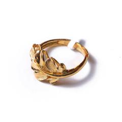 富华珠宝首饰 黄金精品树叶     黄金珠宝戒指 4.59g