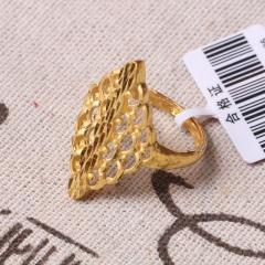 富华珠宝首饰 黄金新款女戒    黄金珠宝戒指 6.57g