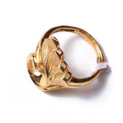 富华珠宝首饰 黄金孔雀开屏   黄金珠宝戒指 6.44g