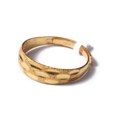 富华珠宝首饰 黄金小雨点   黄金珠宝戒指 3.54g