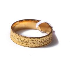 富华珠宝首饰 黄金精品指环   黄金珠宝戒指 4.99g