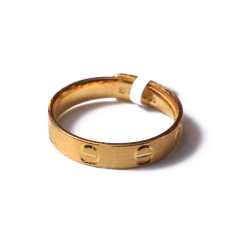 富华珠宝首饰 黄金卡地亚女戒  1101   黄金珠宝戒指 4.05g