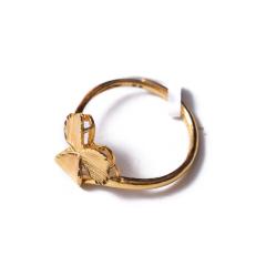 富华珠宝首饰 黄金三叶草  黄金珠宝戒指 5.64g