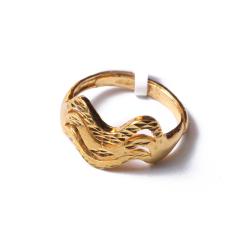 富华珠宝首饰 黄金开道杠   黄金珠宝戒指 4.76g