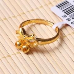 富华珠宝首饰 黄金蝴蝶结  黄金珠宝戒指 4.68g