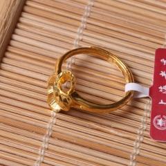 富华珠宝首饰 黄金新款女戒    黄金珠宝戒指 3.97g