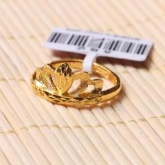 富华珠宝首饰 黄金皇冠戒指   黄金珠宝戒指 4.62g