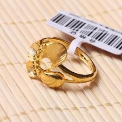 富华珠宝首饰 黄金蝴蝶   黄金珠宝戒指 4.63g