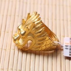 富华珠宝首饰 黄金龙头戒    黄金珠宝戒指 18.84g