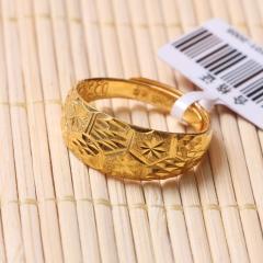 富华珠宝首饰 黄金菱形戒    黄金珠宝戒指 7.78g