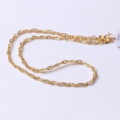 富华珠宝首饰 黄金项链蛇骨链   黄金珠宝项链 22.05g