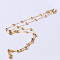富华珠宝首饰 黄金项链锁骨链   黄金珠宝项链 5.1g