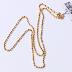 富华珠宝首饰 黄金项链小米珠链   黄金珠宝项链 7.82g