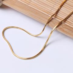 富华珠宝首饰 黄金项链蛇骨链    黄金珠宝项链 9.23g