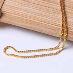 富华珠宝首饰 黄金项链方块链      黄金珠宝项链 10.68g