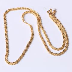 富华珠宝首饰 黄金项链心连心    黄金珠宝项链 13.31g