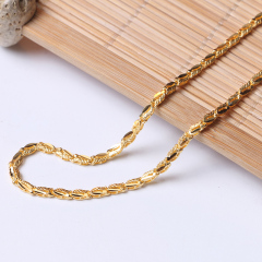 富华珠宝首饰 黄金项链倒模链     黄金珠宝项链 12.61g