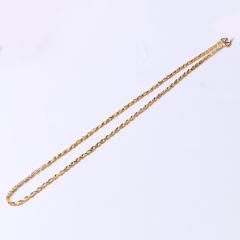 富华珠宝首饰 黄金项链心连心     黄金珠宝项链 12.63g