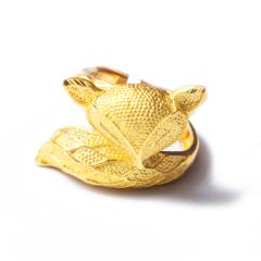 富华珠宝首饰 黄金大号狐狸    黄金珠宝戒指 12.96g