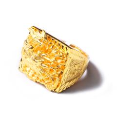 富华珠宝首饰 黄金男士龙戒  黄金珠宝戒指 23.34g