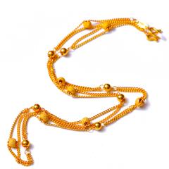 富华珠宝首饰 黄金项链菱形链   黄金珠宝项链 11.38g