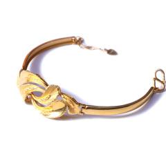 新西北金行 明星同款 千足金仿手鐲花鏈手鏈  重量19.53g   黃金珠寶黃金手鏈 19.53g