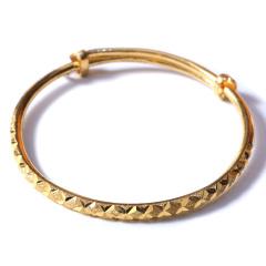 新西北金行   千足金圆棱形手镯  重量40.06g  黄金珠宝黄金手镯 40.06g