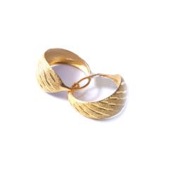 新西北金行  千足金流星雨耳环  黄金珠宝黄金耳环重量 6.77g