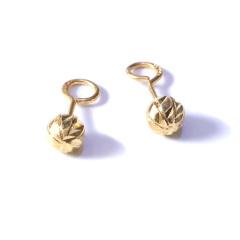 新西北金行  千足金条道耳钉    黄金珠宝黄金耳钉重量 2.65g