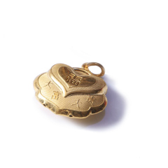 新西北金行   千足金锁吊坠  重量6.58g   黄金珠宝黄金吊坠 6.58g