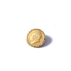 新西北金行  千足金毛主席头像吊坠  重量2.66g   黄金珠宝黄金吊坠 2.66g