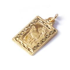 新西北金行 千足金羊牌吊坠  重量5.13g   黄金珠宝黄金吊坠 5.13g