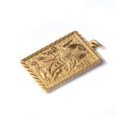 新西北金行   千足金关公吊坠  重量15.56g    黄金珠宝黄金吊坠 15.56g