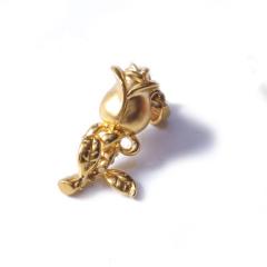 新西北金行   千足金3D玫瑰吊坠  重量1.59g   黄金珠宝黄金吊坠 1.59g