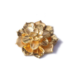 新西北金行   千足金3D拉丝大花吊坠  重量13.86g   黄金珠宝黄金吊坠 13.86g